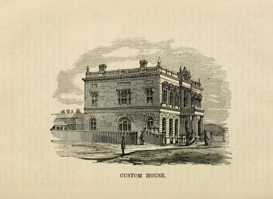 Hamilton 1868 Customs House rev