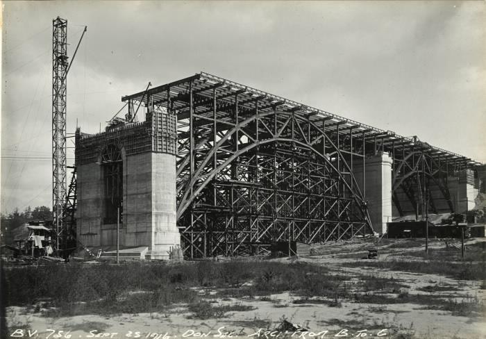Large bridge under construction