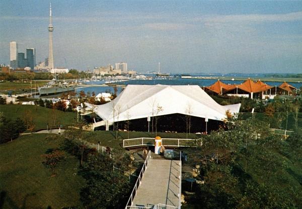 vintage postcard 1970s The Ontario Place Forum