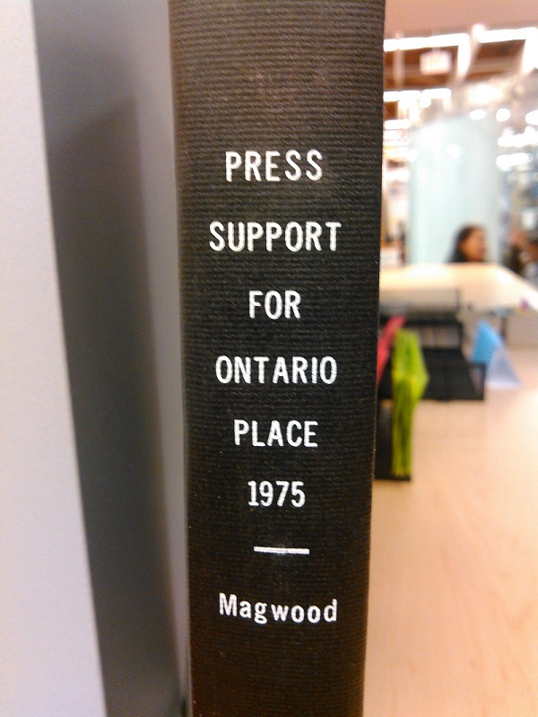 Press Support for Ontario Place compiled by Stephen Magwood cover