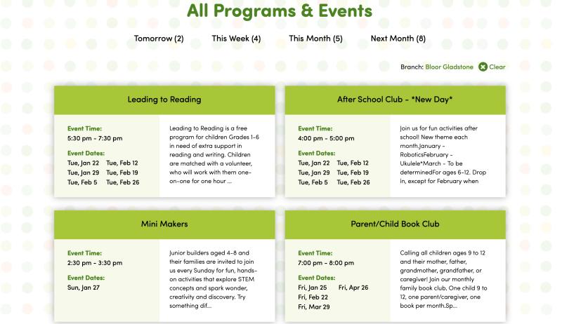 Branch Programs