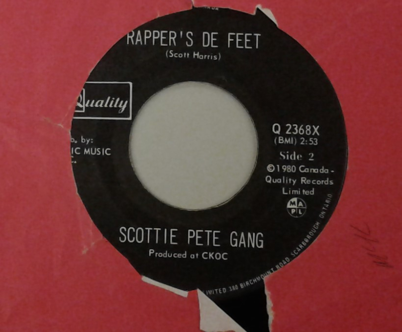 Rapper's De Feet Scottie Peter Gang 7 inch vinyl single 1980