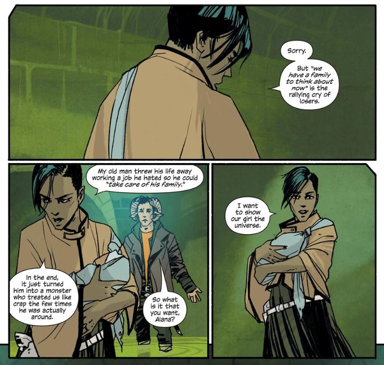 Panels from Saga