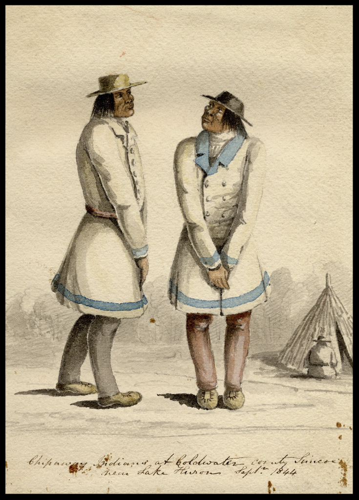 Painting of two Chippewa Indians