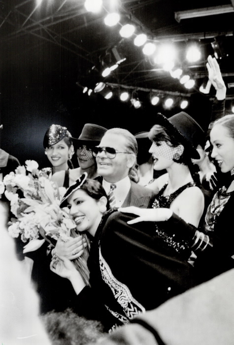 Karl Lagerfeld Toronto Star Photo Archive 1984 photographer Erin Combs