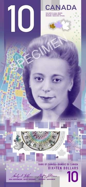 Viola Desmond new $10 note.