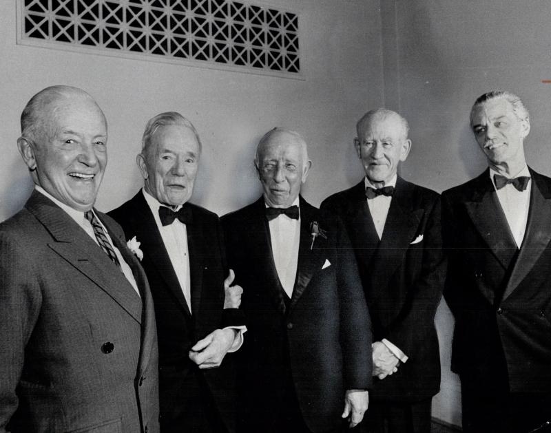 Group of Seven during their testimonial dinner