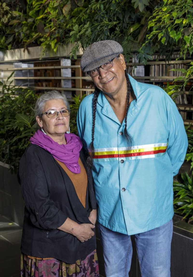 Elders Frances Whiskeychan and Patrick Etherington
