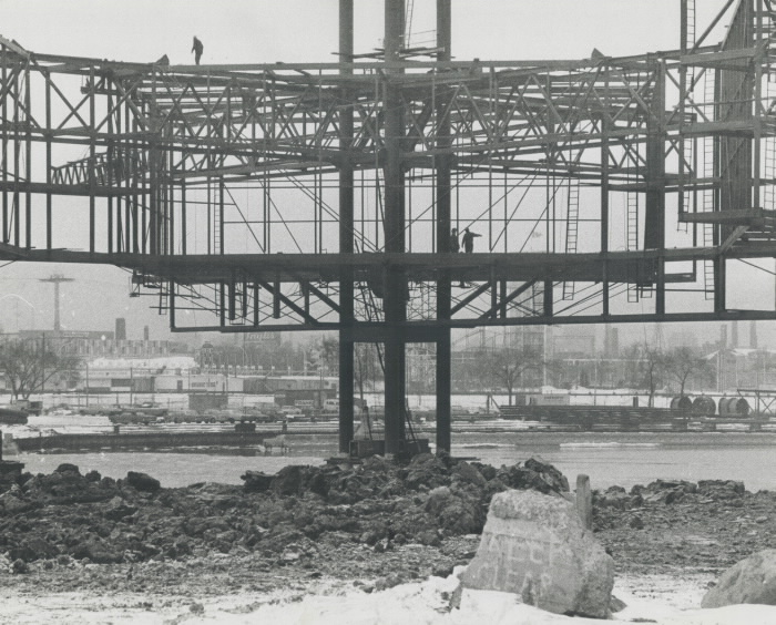 1970 photo Ontario Place pods during construction