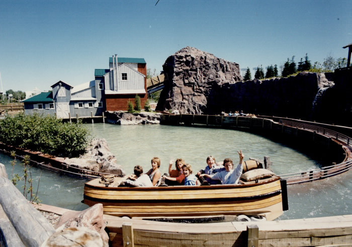 1986 The wilderness adventure ride is one of the new attractions at Ontario Place