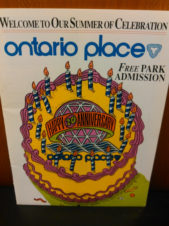 Ontario Place 1990 Happy 20th Anniversary pamphlet
