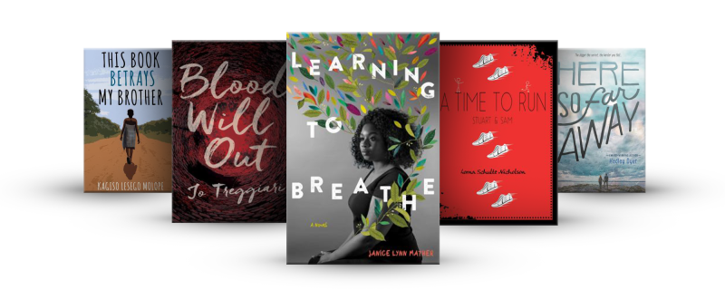 Book covers from the Canada's Best for Teens booklist