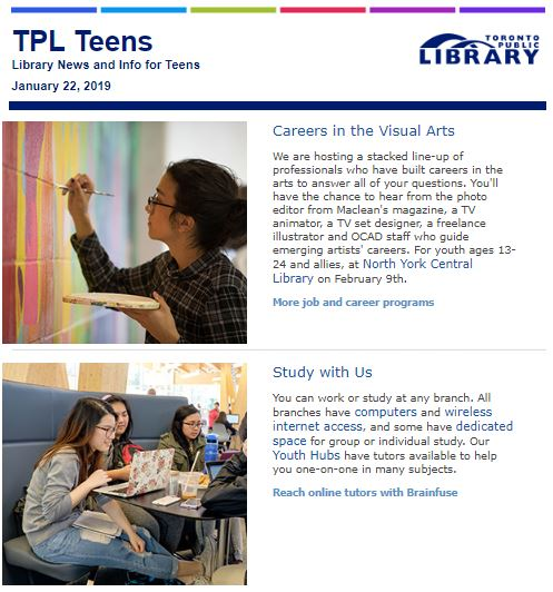 January 2019 Teen Newsletter Image