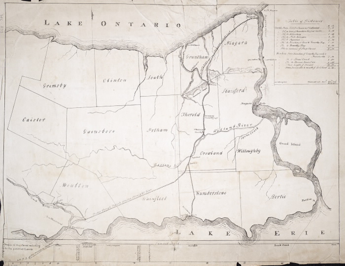 1820 map of Welland Canal