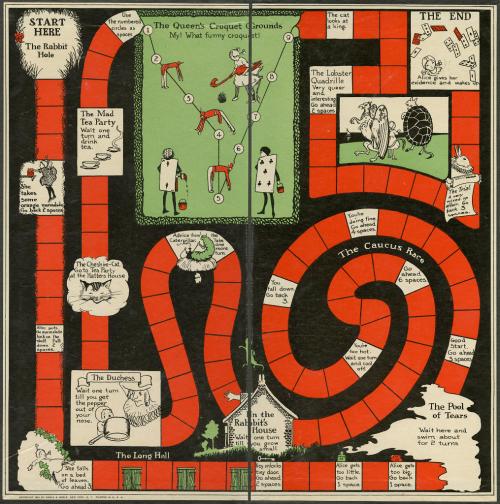 Alice in Wonderland board game from 1923