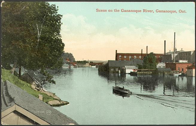 Scene on the Gananoque River in 1910