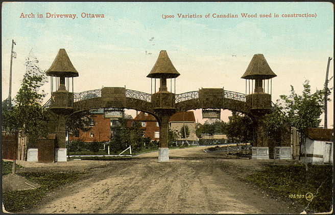 Arch in Driveway  Ontario in 1910