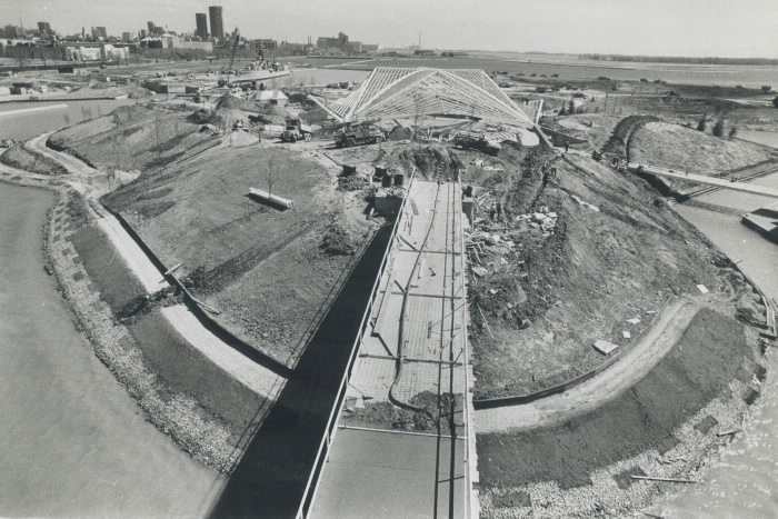 1971 photo The Forum during construction Ontario Place