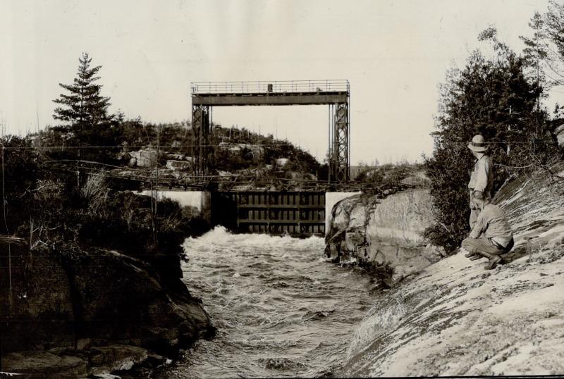 Chaudiere Falls and locks near Ottawa