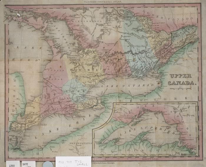 1836 map of Upper Canada