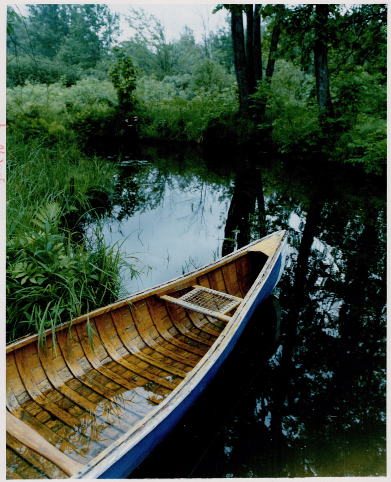 Summer Cottage canoe travel, 1989