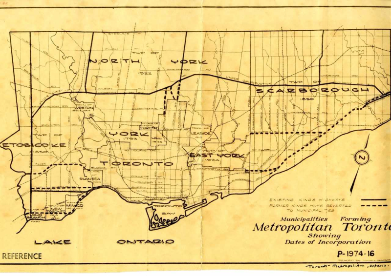 Metro Toronto map 1967