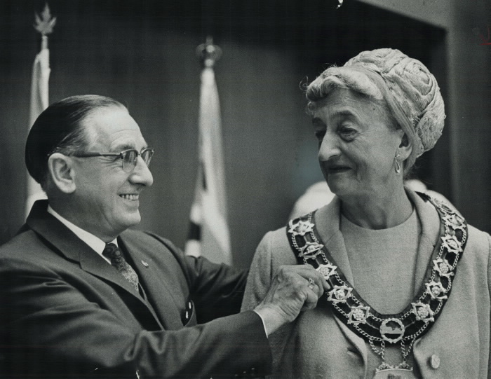 1968 vintage photo East York Mayor True Davidson