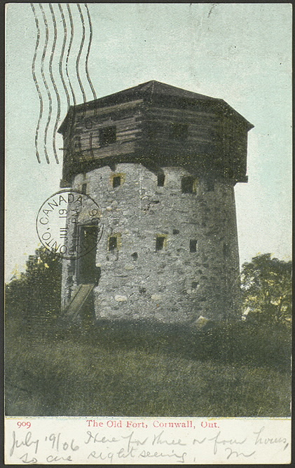 Illustrated stone tower