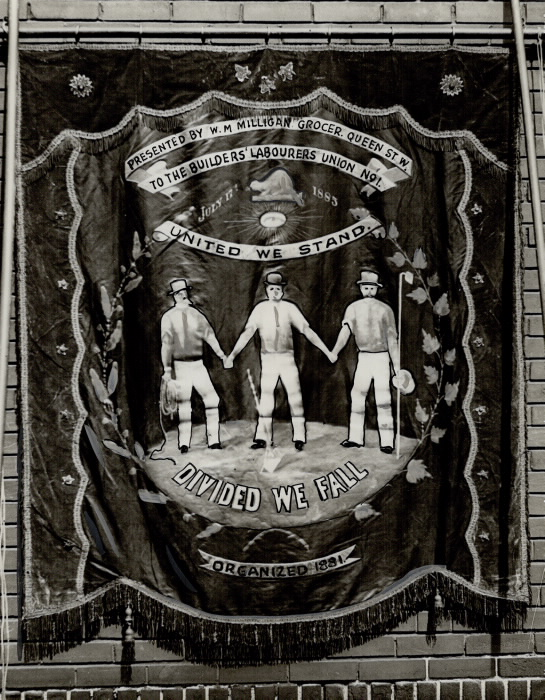 1883 Labour Day Banner