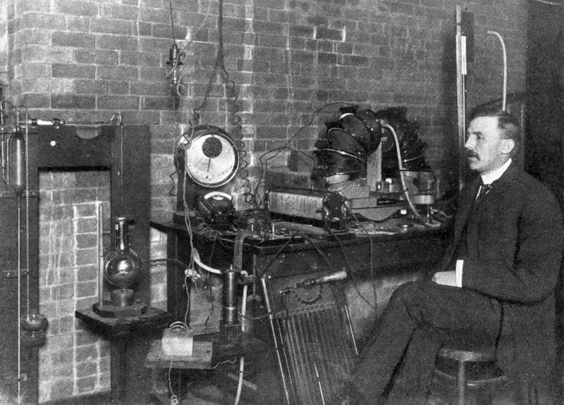Ernest Rutherford at McGill University in 1905