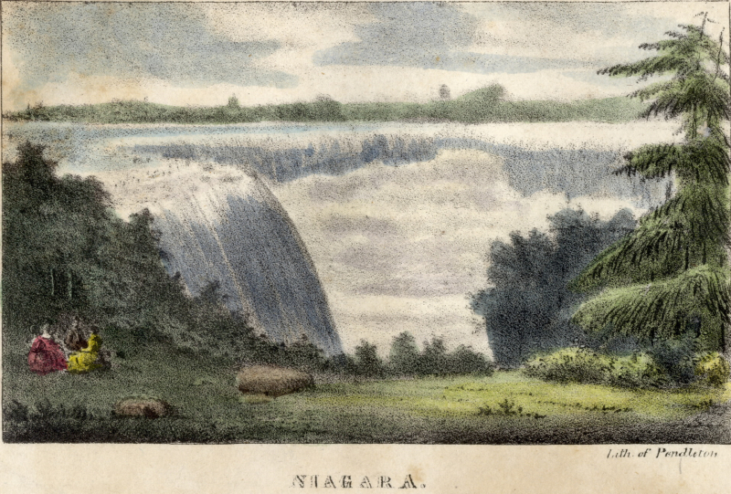 Niagara (1830) by William James Bennett lithograph on wove paper