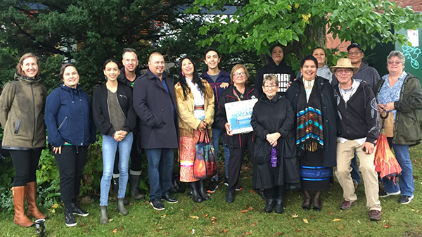 Participants at the Tree Ceremony at Albert Campbell Branch