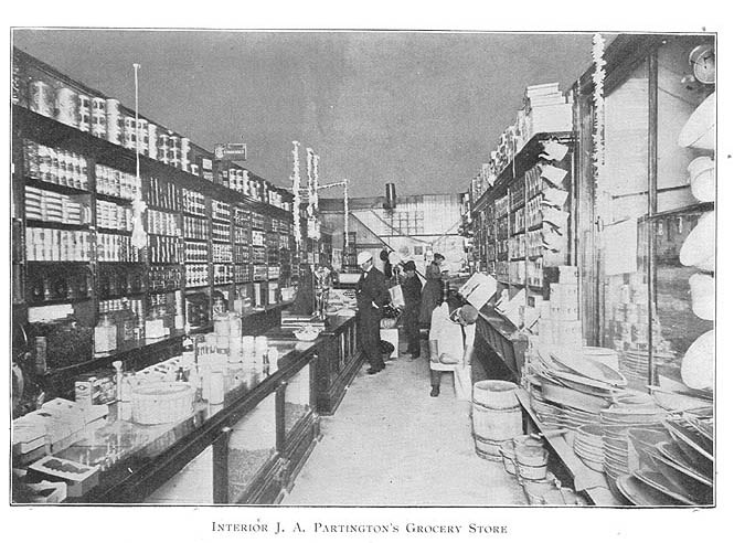 Interior J. A. Partington's Grocery Store