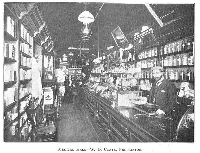 Medical Hall-W. D. Coate, Proprietor