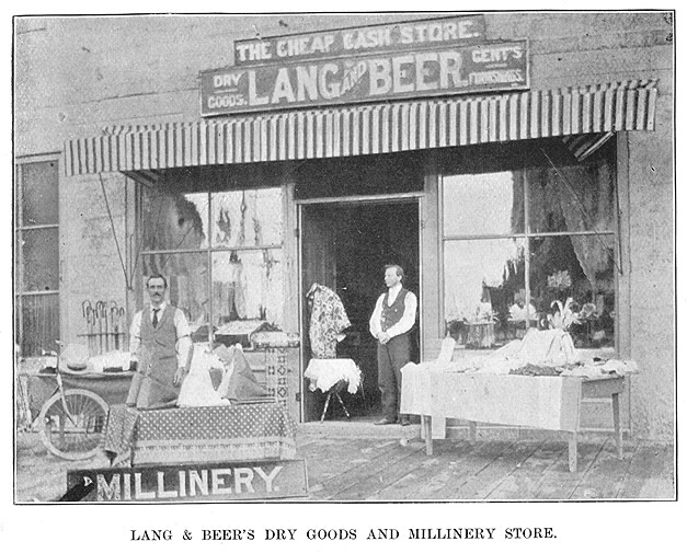 Lang and Beer's Dry Goods and Millinery Store