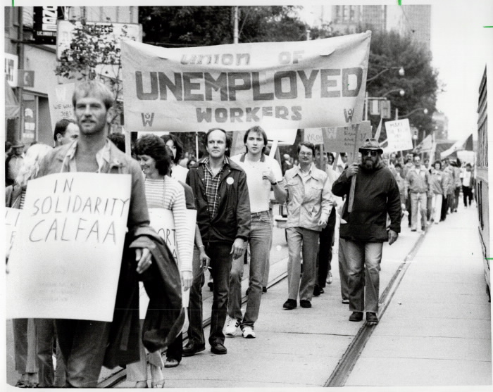 1982 Labour Day Parade Toronto unemployed workers union