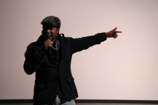 A member from the Shakespeare Fusion Hip Hop Project