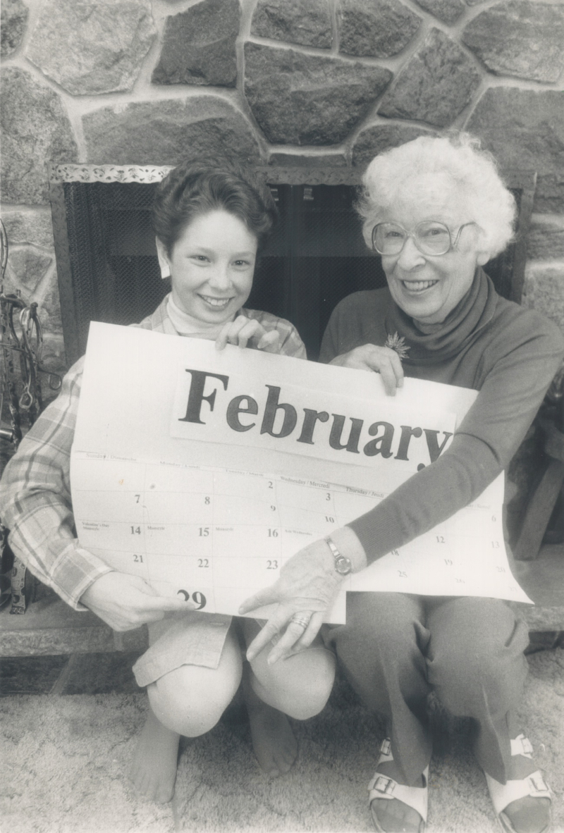 Dawn Woodside and Margaret Sabiston both celebrate their Leap Year Birthdays in 1988