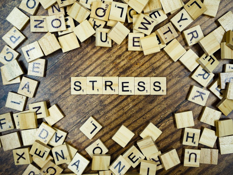 Stress spelled out in scrabble tiles by forthwithlife