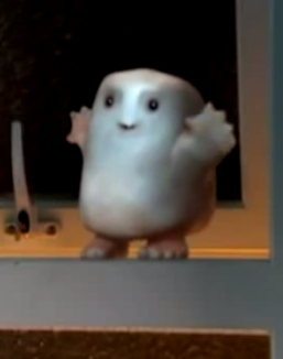 "Adipose from ""Partners in Crime,"" season 4, episode 1 of Doctor Who. Property of BBC."