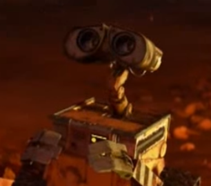 WALL-E from WALL-E. Property of Disnperty of Pixar Animation Studios.