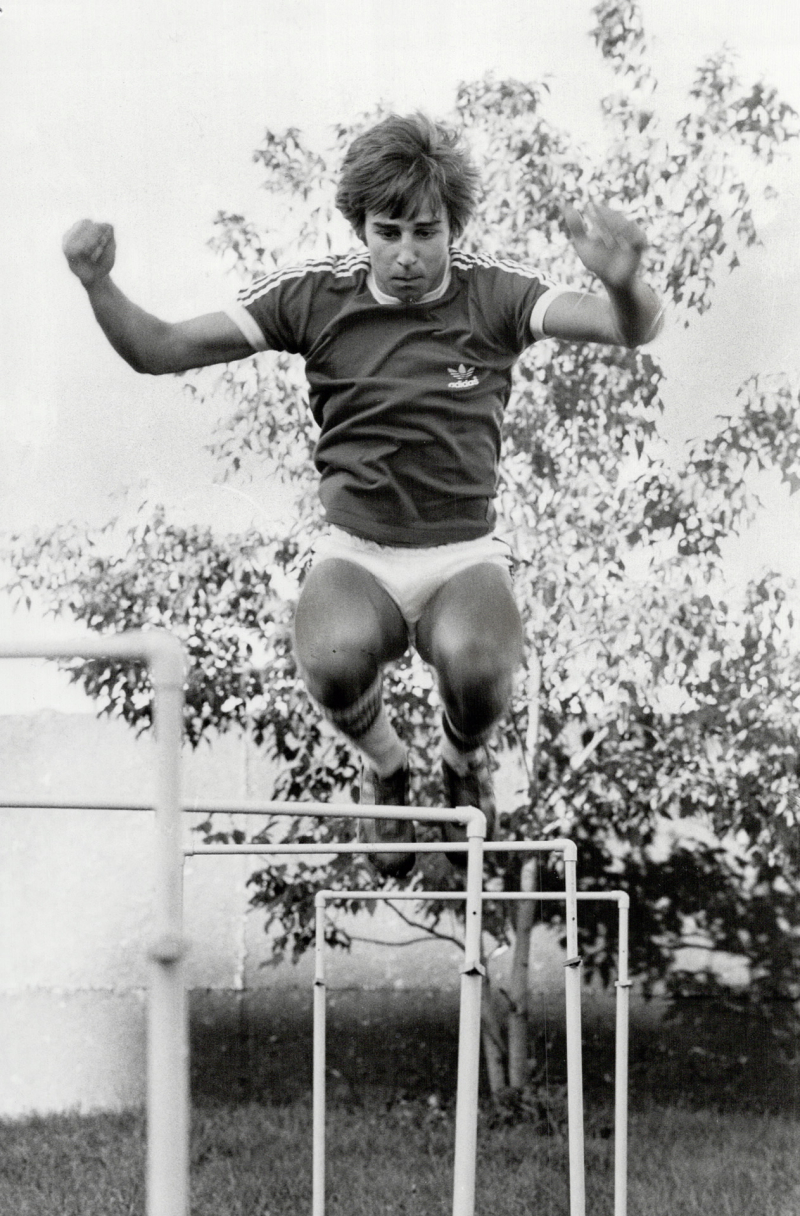 Ron Richards in 1981 trained hard for his upcoming European tour with the Canadian Ski Jumping team