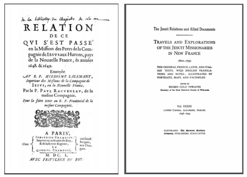 Two title pages side by side, one old and one new