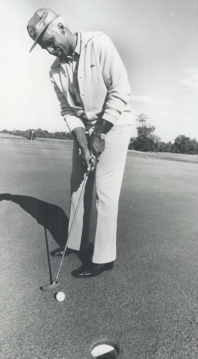 Herb Carnegie Playing Golf from the Toronto Star Photography Archives 1977