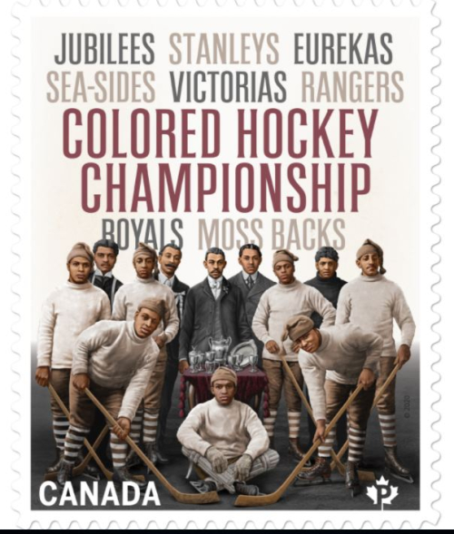 New stamp Canada Post Black Hockey Maritimes