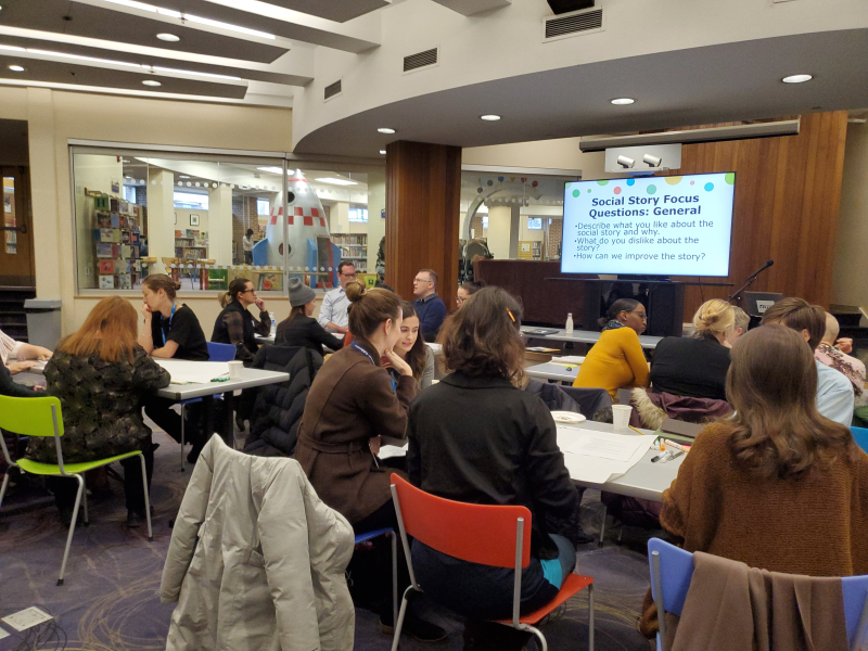 Community service providers and TPL staff brainstorm accessibility ideas