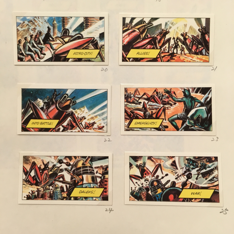 Cigarette cards - Doctor Who