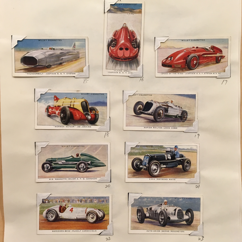 Cigarette cards - speed