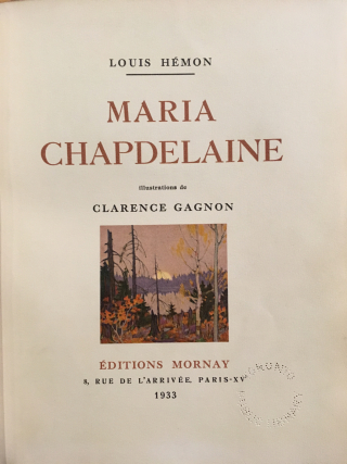 Maria Chapdelaine 1