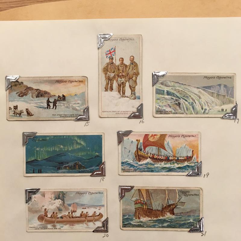 Cigarette cards - polar exploration
